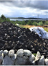 30kg Irish Fire Peat Burning Turf Fuel Natural Hand Cut Turves log Peat Heat