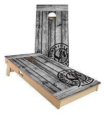 Slick Woody's Grey Barnwood 2' by 4' Cornhole Board Game Set - Quality USA Made!