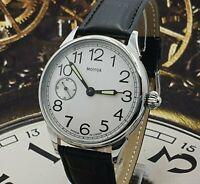 Dress Men's WristWatch Marriage Silver dial mechanism ChChZ USSR Vintage Style