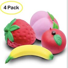 Squishies Soft Slow Rising Jumbo Fruit - 4 Pack Kawaii Squishy Toys Package