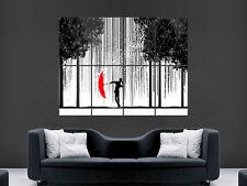Chantant dans la pluie Poster Mural Art Abstrait photo print grand énorme