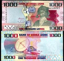 One Sierra Leone Africa 1000 (1,000) Leones Banknote 2010 P-30 UNC Fast USA Ship