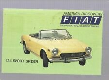 pk43051:Postcard-America Discovers FIAT 124 Sport Rider-Best Selling Car Europe