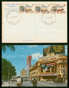 Mayfairstamps Singapore 2000 Changi Airport Busy Street Scene Postcard wwp81607