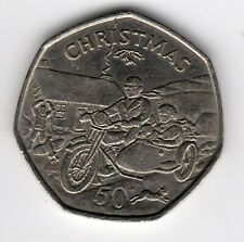 More details for 1988 50p tt coin iom christmas motorcycle sidecar aa isle man fifty pence iom222