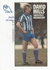 David Mills Sheffield Wednesday 1982-1983 originale firmato a mano Rivista di taglio
