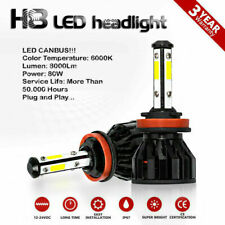 Kit H8 LED Fog Light Bulbs 80W 8000Lm White 6000K Canbus KIA Soul MK2 2014-on