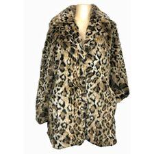 H&M Leopard Print Faux Fur Long Women Jackets & Coats