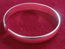 Silver? Plated? Plain Polished Cuff Bangle.