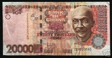 GHANA 20000 CEDIS P36B 2003 *REPLACEMENT* ZZ MUSICIAN AFRICA CURRENCY MONEY NOTE