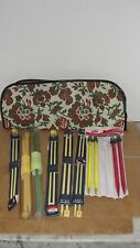 (8) PR. KNITTING NEEDLES WITH CASE