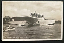 1932 Konstanz Germany RPPC Postcard Cover  DOX Dornier Seaplane