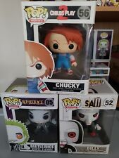 Damaged box Funko POP! Movies Lot 3 Saw Billy Chucky Child's Play 2 Beetlejuice