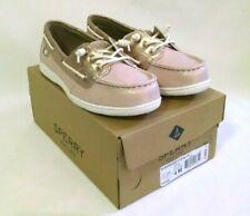 Sperry Girls Boat Shoe US 4 M Shoresider 3 Eye Blush Pink Gold UK 3 M EUR 36 M