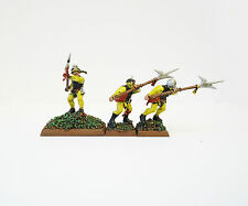 WARHAMMER FANTASY  ARMY  EMPIRE HALBERDIERS X3  PAINTED AND BASED