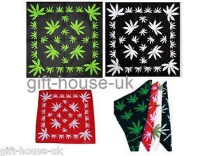 Green Leaf Bandana Headwear Bandanna  Band Scarf Neck Wrist Wrap Band HeadtieB3