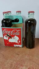 COCA COLA COKE SODA RETRO XMAS HUTCHINSON GLASS COKE BOTTLE 4 PACK 2011 REISSUE
