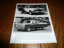 1981 Dodge Ram 50 & Ram Royal SE D150 Pickups Press Photos