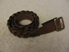 $75 NWOT DENIM & and Supply Ralph Lauren Mens Braided Brown Leather Belt Size 38