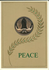 Vintage Franklin Mint Gold Dove Sealed Coin Christmas Card 1971 Peace on Earth