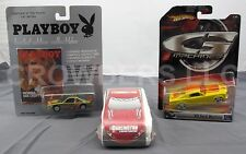 Hot Wheels 66 Mustang + Playboy Nichole Van Croft Car + Dodge NASCAR T-Shirt NIP