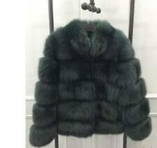 Womens Real Fox Fur Coat Mid Long Jacket Parka Thicken Casual Overcoat Outwear