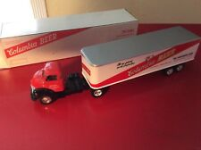 Ertl coe 1950 GMC C60  Chevy semi tractor trailer Columbia beer 1:43 O Scale