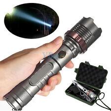 5000LM T6 LED Rechargeable Flashlight Auto-défense Lampe Torche Chargeur Boîte