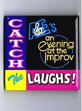 1990 A&E Network Advertising Pinback Button Cable TV Television Improv Comedy Ad