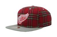 Mitchell & Ness Men Unisex Hat Cap Black NHL Detroit Red Wings Adjustable Fit