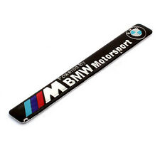 Metal Car Decals Badge Emblems Stickers For M POWERED BY MOTOR SPORTS Racing NEW