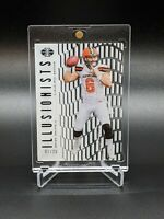 Baker Mayfield 2018 Panini Illusions Illusionists Rookie Black #'d 3/25 Browns
