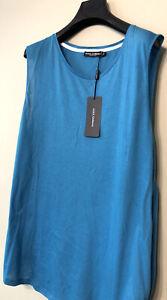 Dolce & Gabbana Men's Teal Oversized Sleeveless Casual Size 52/XL RRP £125
