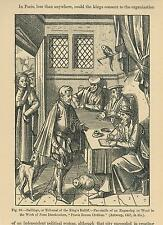 ANTIQUE SHERIFF MEDIEVAL BAILIFF KING TRIBUNAL GREYHOUND DOG CAT PARROT PRINT