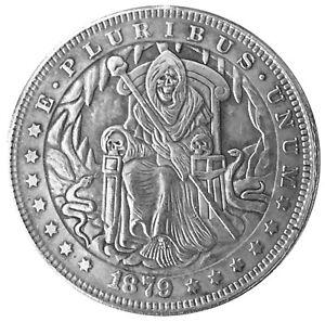 Santa Muerte Novelty V4 Head Tail Lucky Challenge Coin US SELLER FAST SHIPPING