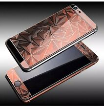 Rose Gold 3D Diamond Tempered Glass Front + Back Screen Protector iPhone 5 5s SE