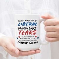 Liberal Snowflake Tears Coffee Mug- Anti-Liberal Trump Sweet Warm Cup of Liberal