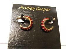 Ashley Cooper Vintage Pierced Earrings. g ))