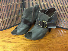 Unlisted Kenneth Cole Womens ankle boots size 7 M brown open toe Jack Rabbit F21