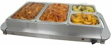Professional Food Warmer Buffet Server Hot Plate 4 Tray Section Adjustable 300W