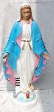 Wunderschöne Maria Madonna Figur Krippenfigur Skulptur Statue mit Schlange