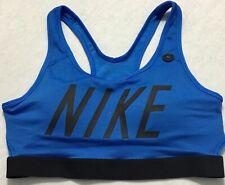 Nike Women Dri-Fit Medium Support Classic Training Bra Blue Ci2378 Size M
