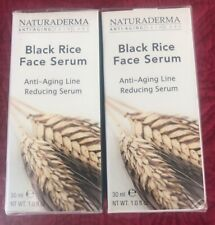 Set Of 2 Naturaderma Black Rice Face Serum Anti-Aging Line Reducing Serum 1oz