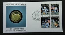 Marshall Islands 1994 Moon Landing anniversary numismatic FDC with $10 coin
