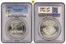 USA 1 Dollar 1987 Constitution Pièce de Monnaie PCGS Certifié MS70