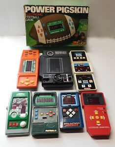 1970s-80's Vintage Electronic Games, Lot of 8 Games