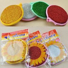 10pc Double Sided Kitchen Cleaning Dish Washing Scouring Pad Sponge Scrubber