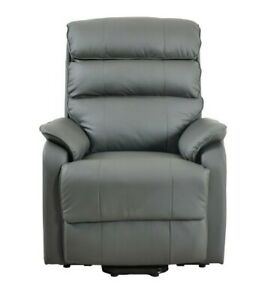 Electric Rise and Recline Leather Lift Chair Armchair Recliner Mobility Riser