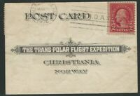 U.S. and Norway,1924 North Pole Mail Flight Card, Trans-Polar Flight Expedition