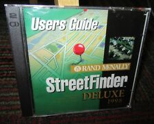Rand Mcnally: Street Finder Deluxe 1998 Edition 2-Disc Pc Cd-Rom, Win 95/Nt, Guc